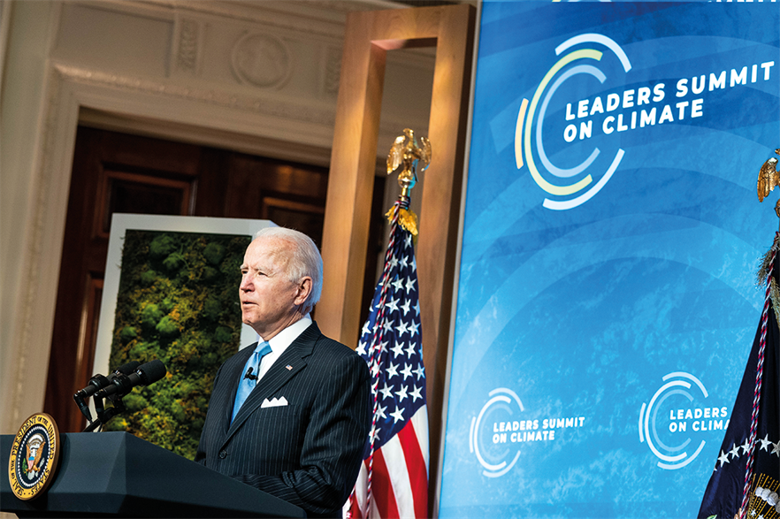 President Joe Biden pledeged to halve his country's emissions by 2030 (pic: Anna Moneymaker/The New York Times/Bloomberg via Getty Images)