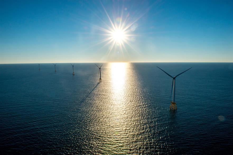 The 30MW Block Island project is the US' only offshore wind farm... for now (pic credit: Deepwater Wind)