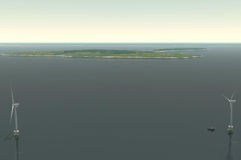 Deepwater's rendering of the Block Island site
