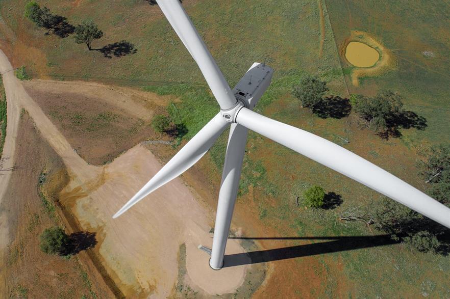 Infigen Energy's 113MW Bodangora wind farm in New South Wales was completed in 2019