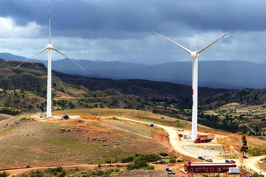Bolivia extended its first wind project, Qollpana, last year (pic: Ende)