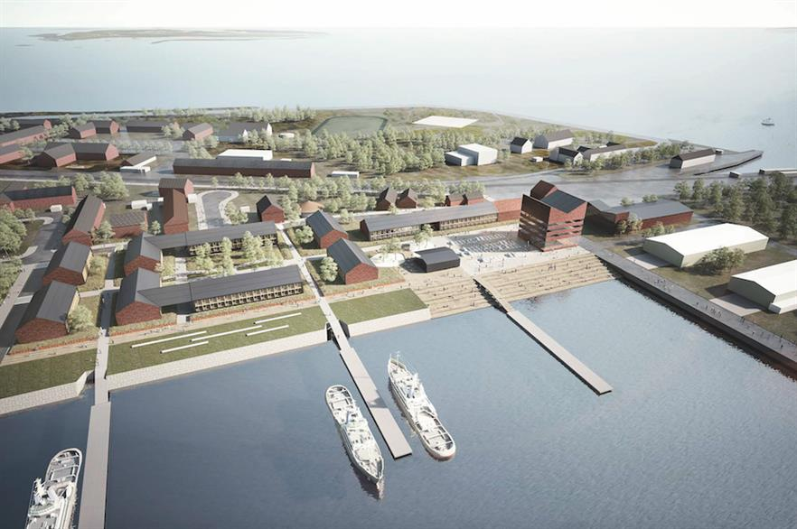 An artist's impression of the planned renovation of Borkum habrour (pic: Wpd)
