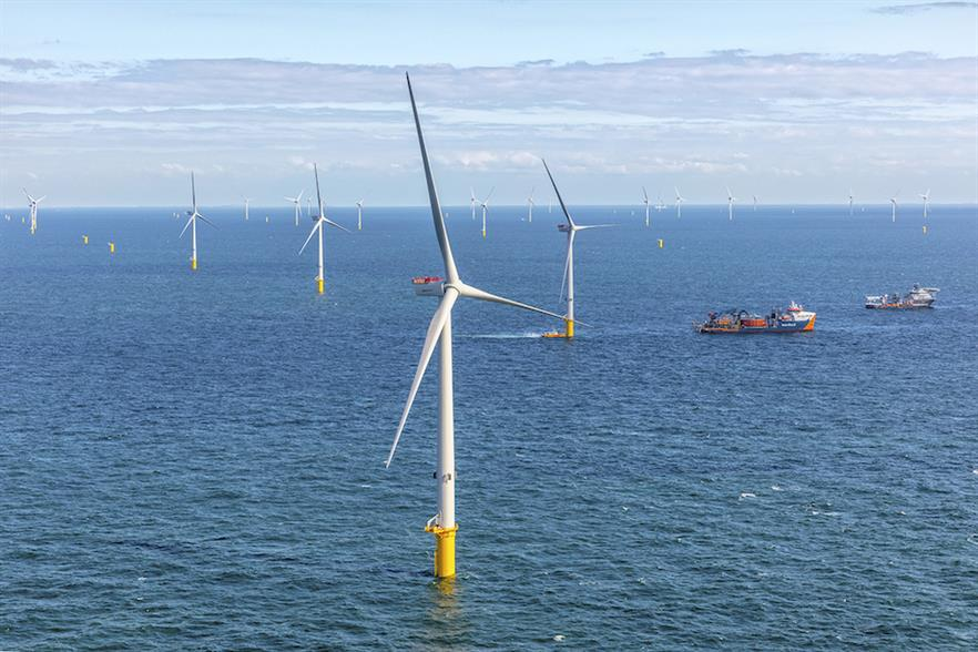 Ørsted's 752MW Borssele I & II wind farm off the Dutch coast was brought online last year (pic credit: Flying Focus)