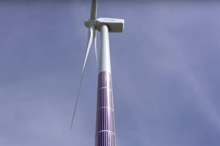 Acciona installed 120 PV panels on an AW77/1500 turbine in south-east Spain