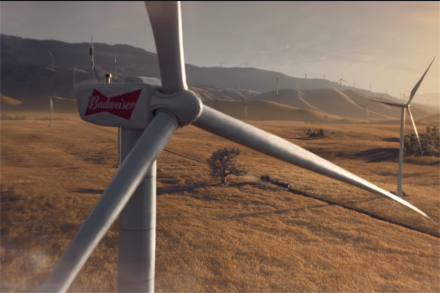 AB-InBev uses power from an Oklahoma wind project to brew its beers