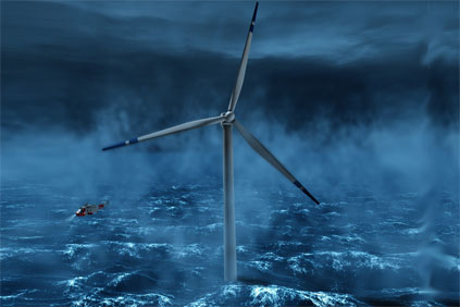 The Hywind project uses a 2.3MW turbine