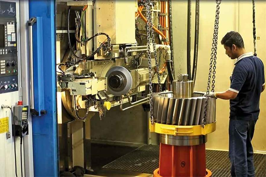 Supply chain… Nearly 5GW of gearboxes can be made in India (pic: ZF Wind Power)