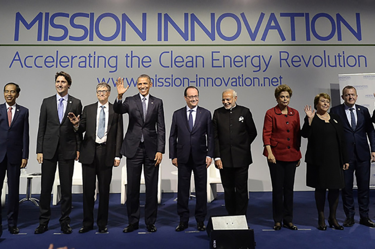 Political and business leaders at the Mission Innovation launch event at the COP21 talks in Paris