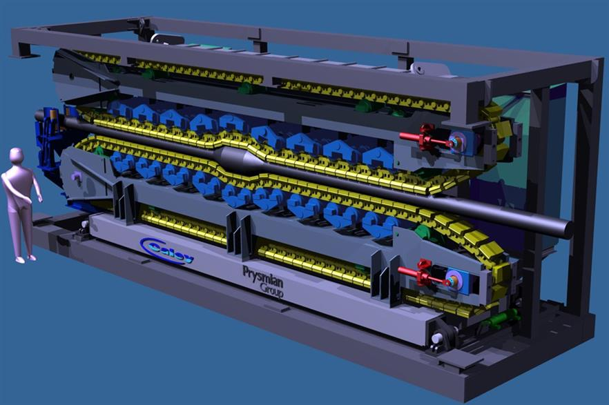 Prysmian has ordered three cable tensioners from Caley Ocean Systems