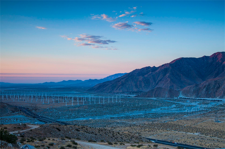 Californian wind projects, onshore and offshore, will be afforded priority status (pic: Twitter/Sally Jewell)