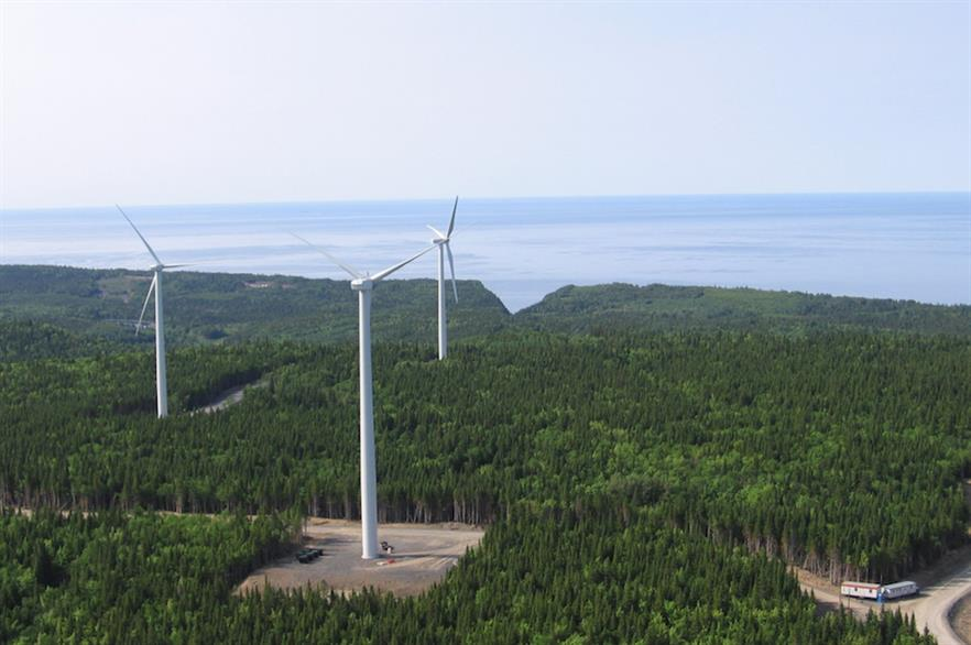 Part of the Cartier Wind Farms cluster in Québec, Canada (pic: Innergex)