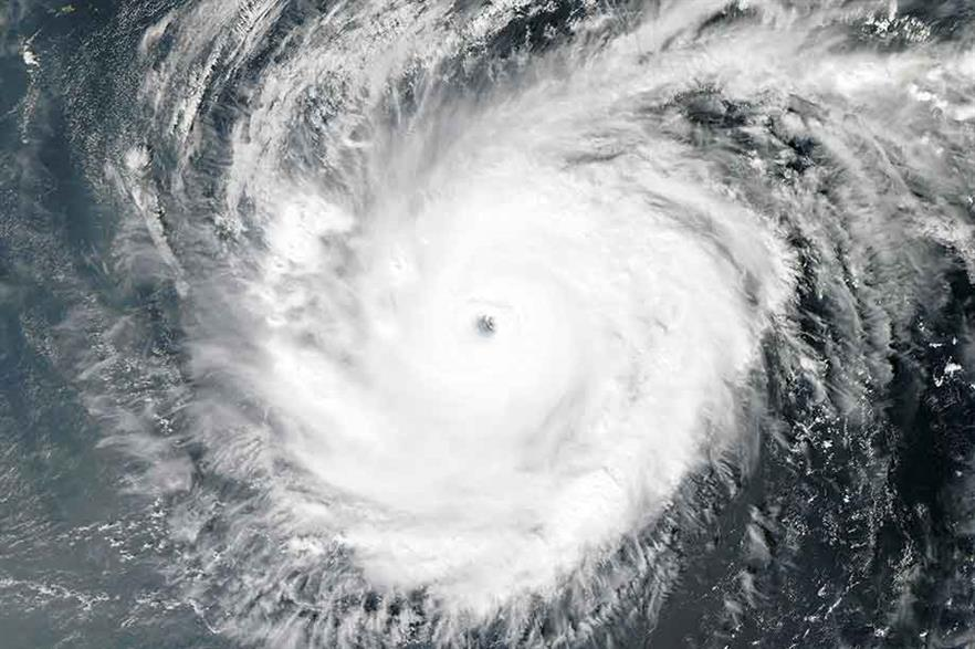 """""""As wind power moves out of its established markets and into more challenging areas, such as the typhoon-prone South China Sea, it will face greater exposure to natural catastrophes"""" (pic: NASA)"""