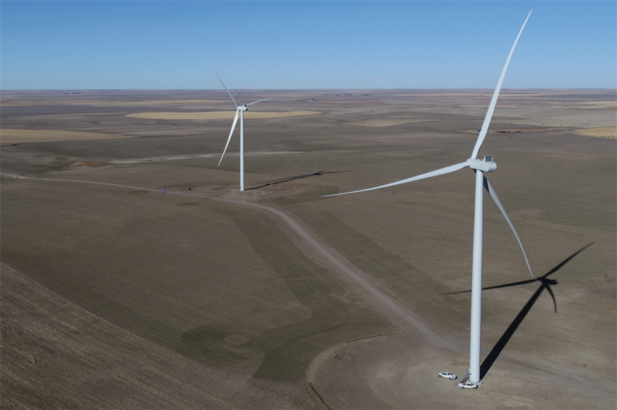 Xcel Energy's 500MW Cheyenne Ridge was the largest wind farm brought online last month, according to Windpower Intelligence