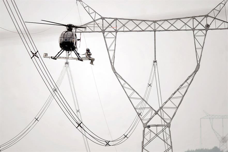 Ultra-high voltage transmission lines are key to cutting curtailment in China (pic: ChinaFeatures)