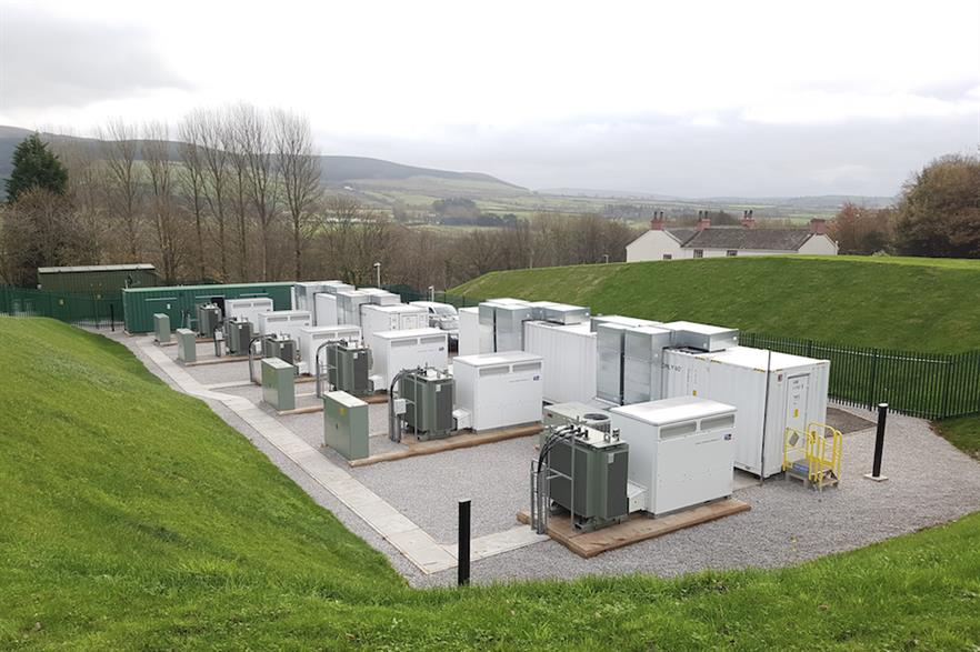 NEC Energy Solutions' 10MW/5MWh storage facility in Cleator, north-west England