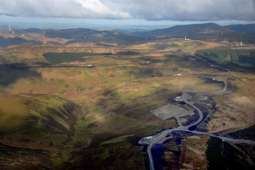 SSE's Clyde Extension project accounted for 172.8MW of the 4,270MW commissioned in the UK last year