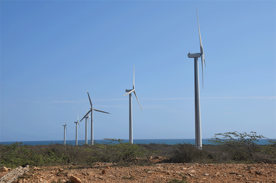 Colombia currently only has a single wind farm (right) but held a tender for 1GW in 2019 (pic: Cueva Lovelle/flickr)