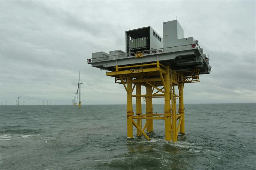 The substation is now in place at the Humber Gateway project
