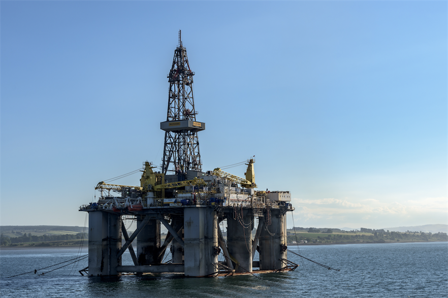 An offshore oil rig in the Cromarty Firth, Scotland (pic credit: Mustang Joe/Flickr)