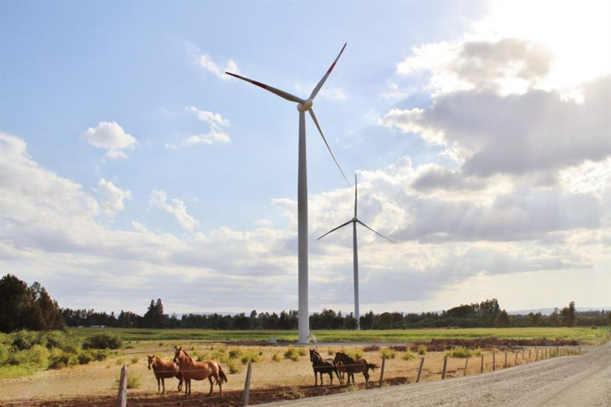 Aela Energia's 33MW Cuel wind project in Chile
