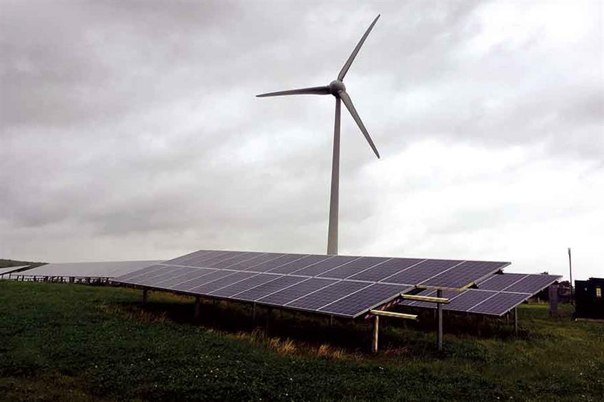 Complementary… Wind-solar hybrid projects can make better use of their allocated grid capacity (pic: Windpower Monthly/Craig Richard)