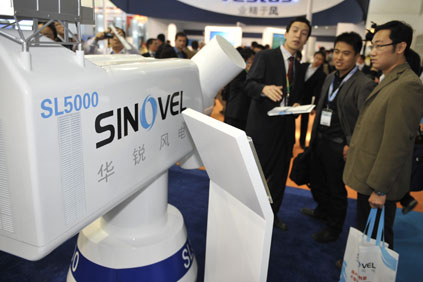 Sinovel's 5MW turbine is the first such large-capacity turbine to be independently built by a Chinese manufacturer