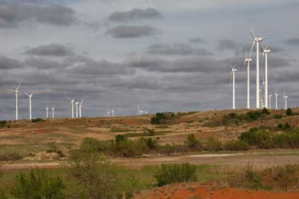Acciona's Red Hills wind farm was one of those to make use of the tax credit when it went online in 2009