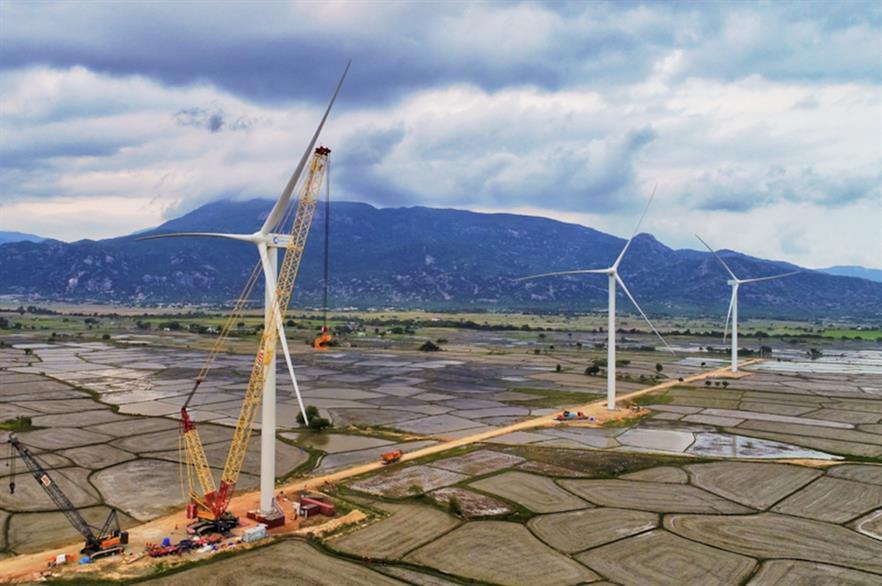 Siemens Gamesa installed three turbines at the Dam Nai project last year (pic: Blue Circle)