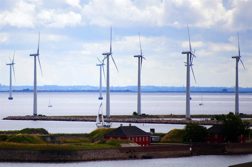 Denmark's wind share fell to 37.6% in 2016 (pic: CGP Grey)