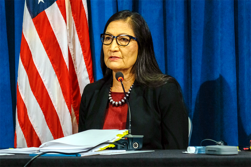 US Secretary of the Interior Deb Haaland announced the new leases areas at the American Clean Power Association's offshore conference (pic: DoI)