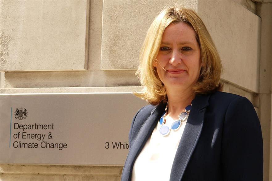 UK energy minister Amber Rudd