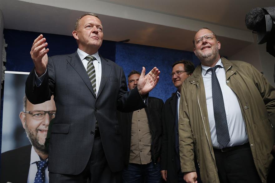 Danish energy minister Lars Lilleholt (right) with Danish prime minister Lars Rasmussen