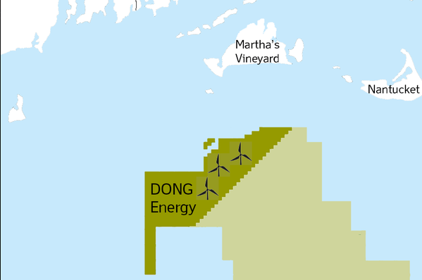 Dong Energy's 1GW Bay State Wind project is located off Massachusetts