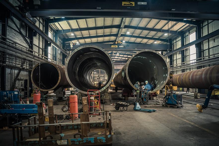 Dong Energy has made a multi-millio pound investment in CS Wind's Scottish facility (pic: CS Wind)