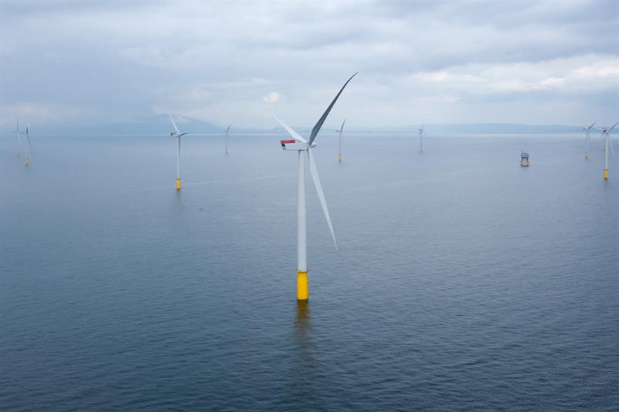 Dong Energy's Walney 1 offshore wind project in the UK