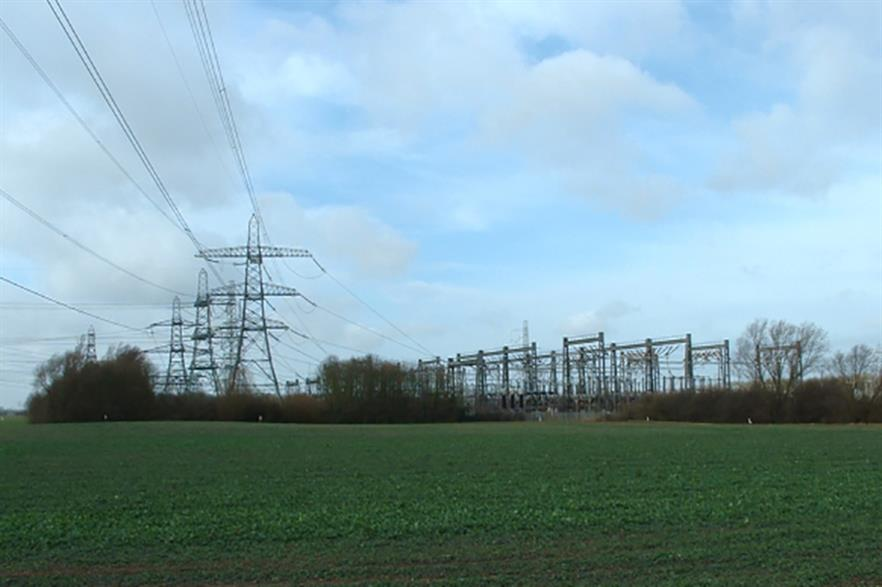 Race Bank's onshore substation will be located next to the National Grid's Walpole substation