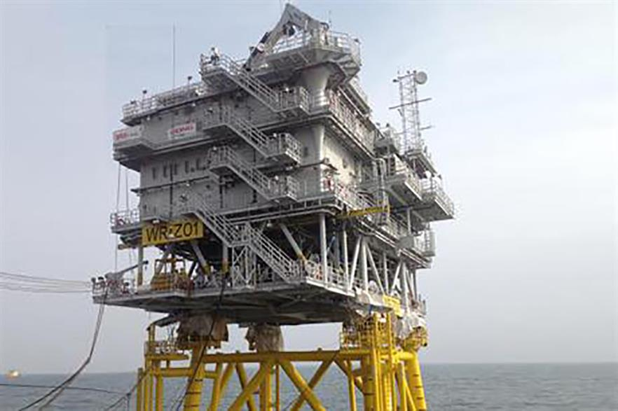 Seaway Heavy Lifting installed the substation at Dong's Westermost Rough project