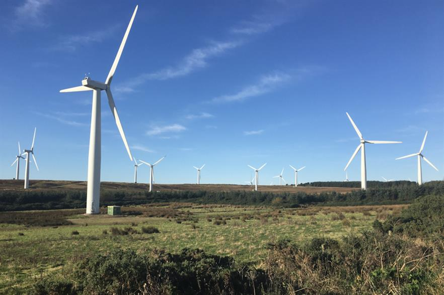 The 28.6MW Drone Hill wind farm has been operational since 2012 (pic credit: E.on)
