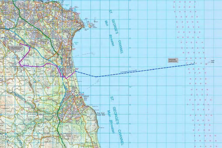 Innogy and Saorgus Energy plan to build the Dublin Array 10 kilometres off the coast of Dublin