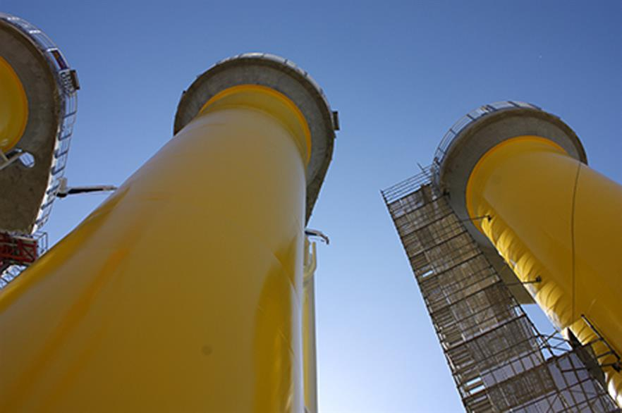 Monopiles are now ready for installation at the Irish Sea site