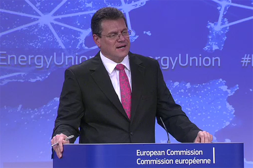 Maros Sefcovic presented the energy union framework in Brussels