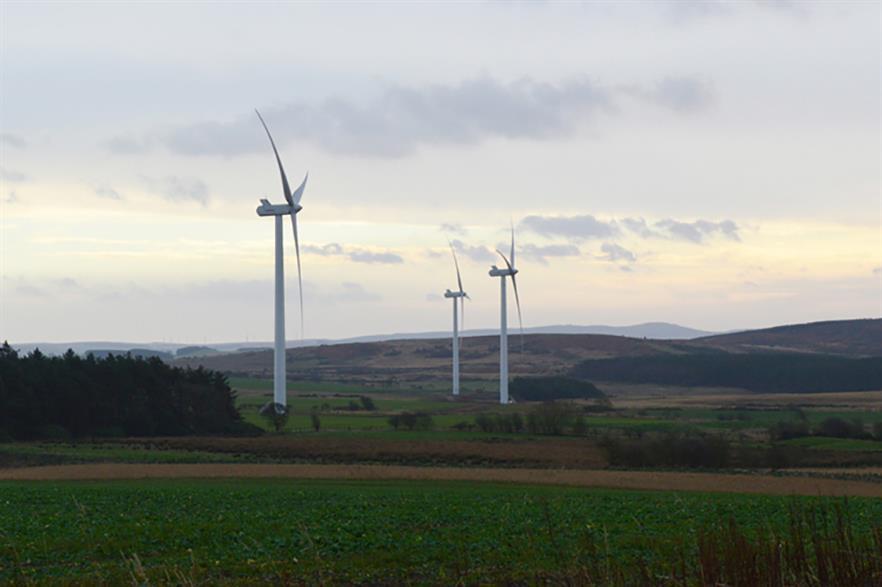 EDF Renewables' 12MW Barmoor wind farm in Northumberland, north-east England