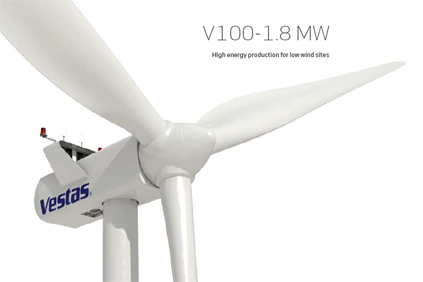 The V100 is designed for low wind sites
