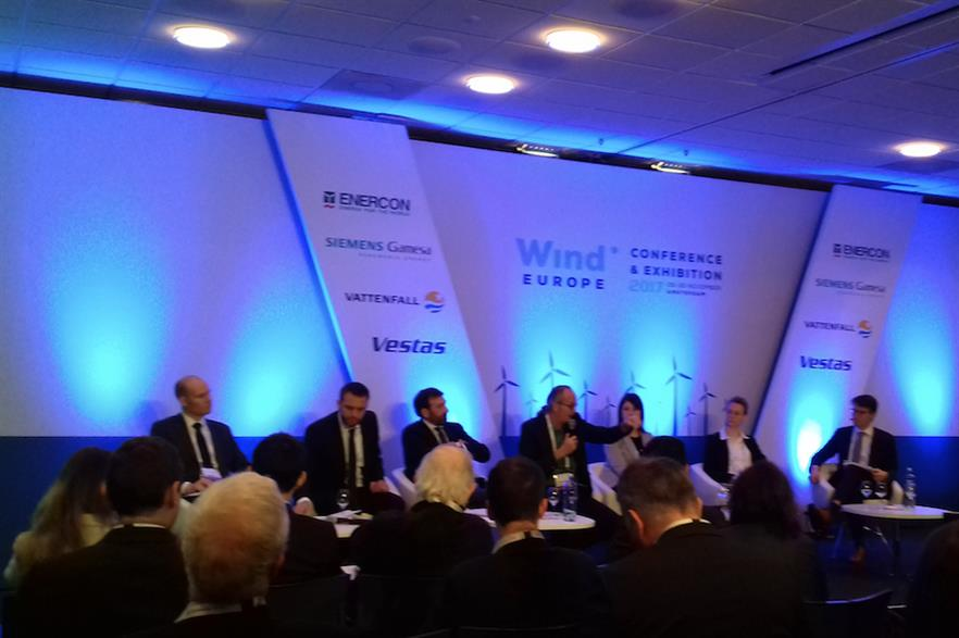 The 'EU policy: What do we want from the end-game on the Clean Energy Package?' panel at WindEurope's conference