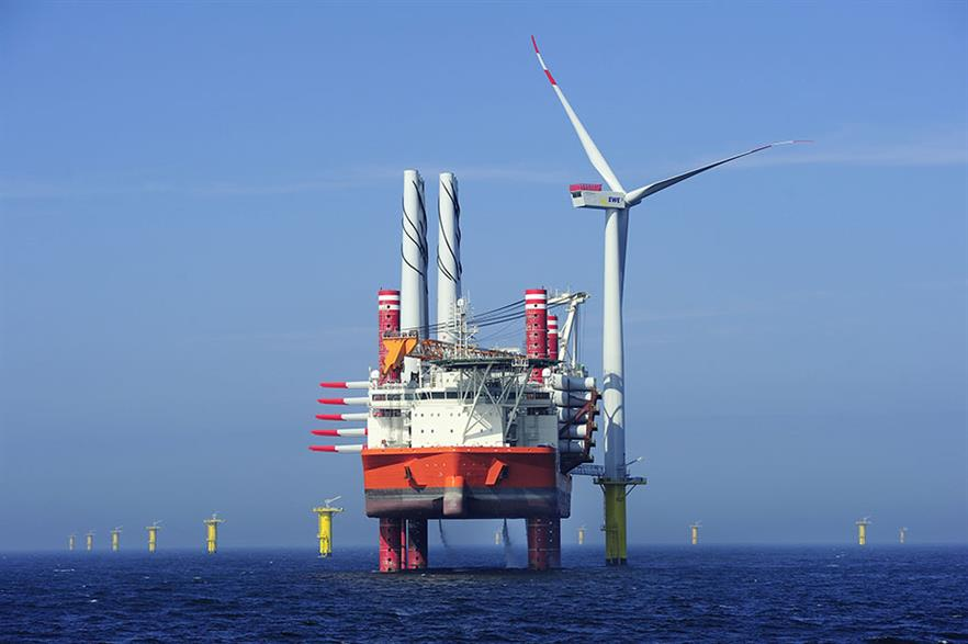 The growth of offshore wind in Europe has helped to increase renewables' share in the electricity mix (pic: EWE/Matthias-Ibeler)