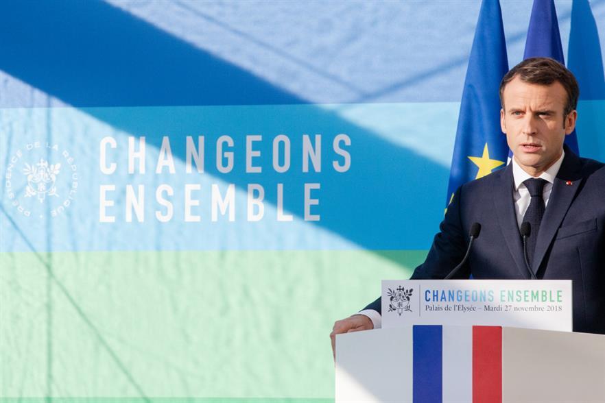 President Macron: 'It's unbelievable that we are not market leaders' (pic: Palais de L'Élysée)