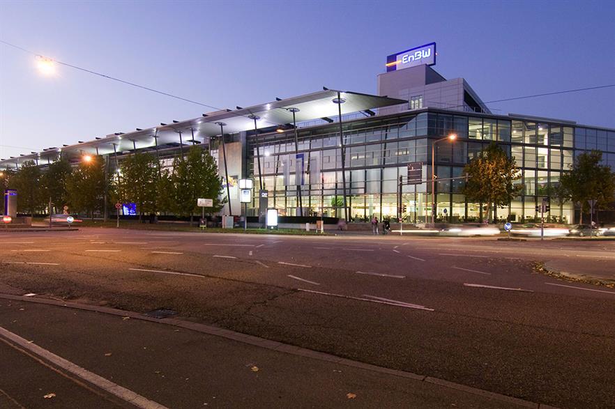 EnBW's Headquarters in Karlsruhe, southwest Germany