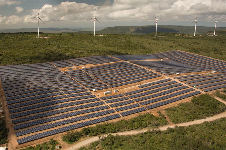 Adding storage to wind-solar hybrid projects helps integrate more renewables into the grid (pic: Enel)