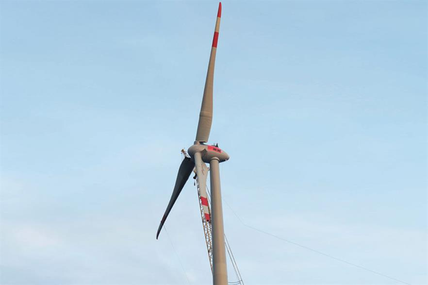 Longer blades… The E-115 prototype has now been installed in Germany