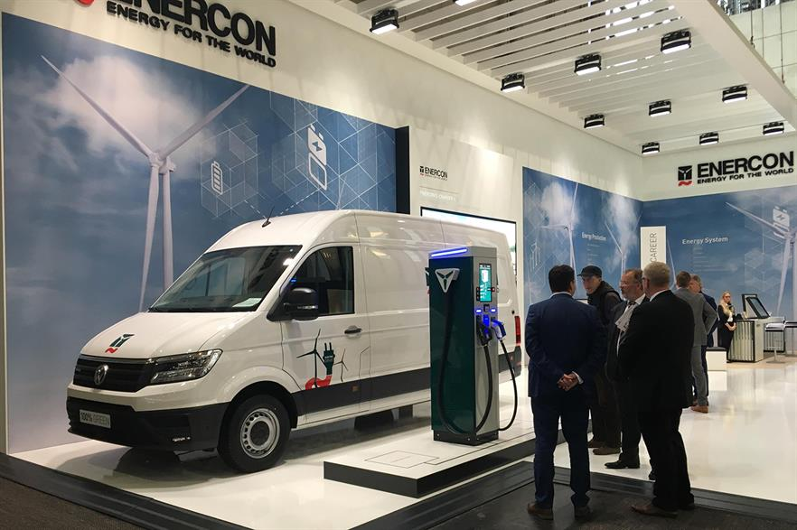 Enercon will launch EV charging stations in the second half of 2019 as it looks to diversify its business in the face of challenges in the onshore wind turbine market
